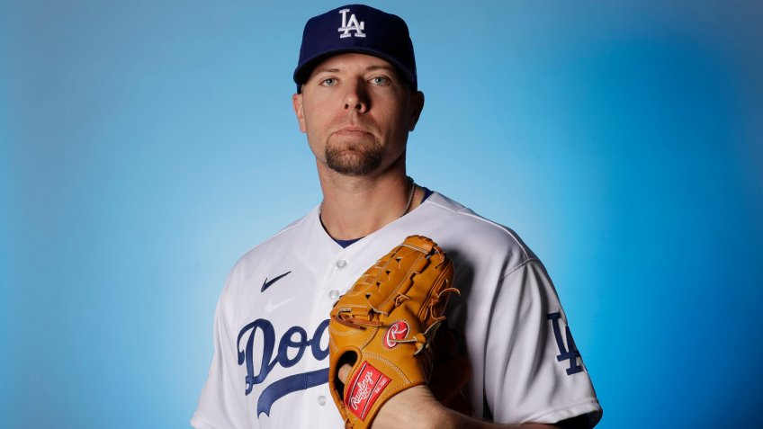 Mandatory Credit: Photo by Gregory Bull/AP/Shutterstock (10562885bv)This is a 2020 photo of Blake Treinen of the Los Angeles Dodgers baseball team.