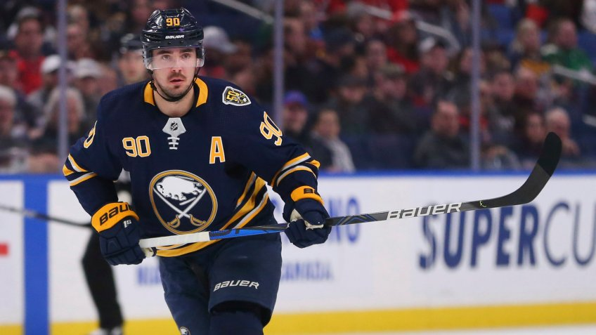 Mandatory Credit: Photo by Jeffrey T Barnes/AP/Shutterstock (10578353x)Buffalo Sabres forward Marcus Johansson (90) skates during the first period of an NHL hockey game against the Washington Capitals, in Buffalo, N.