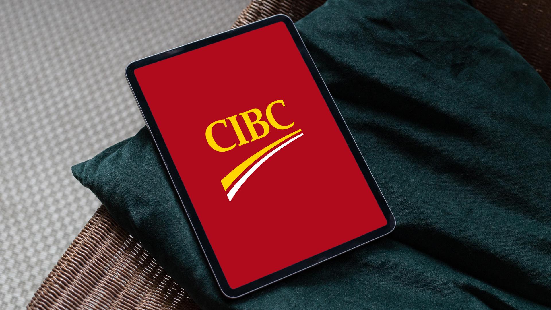 CIBC Bank on tablet