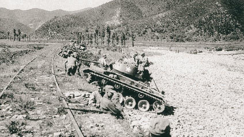 Chaffees at Masan Korean War September 1950