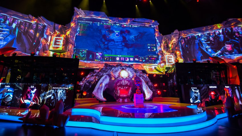 MOSCOW, RUSSIA - MAY 2016: Dota 2 esports event.