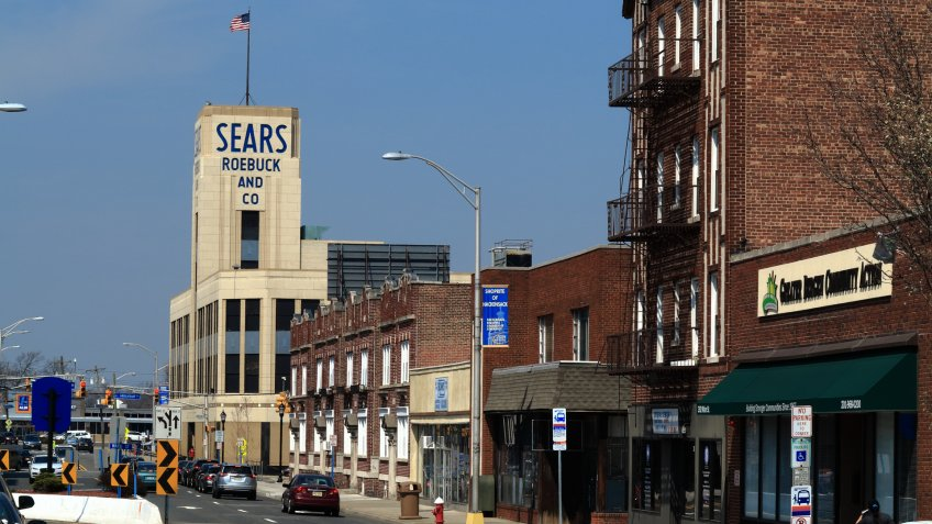 Hackensack, New Jersey, USA - April 14, 2018: Vintage Sears Roebuck department store.