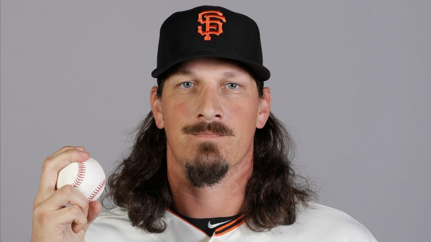 Mandatory Credit: Photo by Darron Cummings/AP/Shutterstock (10563382bn)This is a 2020 photo of Jeff Samardzija of the San Francisco Giants baseball team.