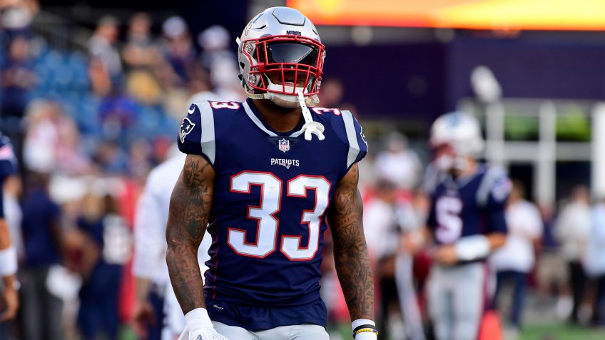 Mandatory Credit: Photo by Eric Canha/CSM/Shutterstock (9786748ba)New England Patriots running back Jeremy Hill (33) warms up prior to the NFL pre-season football game between the Washington Redskins and the New England Patriots at Gillette Stadium, in Foxborough, Massachusetts.