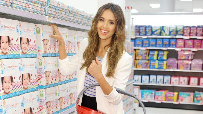WESTWOOD, CA - JUNE 25:  The Honest Company Founder Jessica Alba attends the launch of The Honest Company at Target at Los Angeles Westwood Target on June 25, 2014 in Westwood, California.