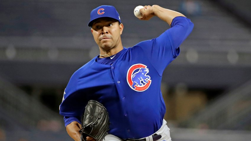 Mandatory Credit: Photo by Gene J Puskar/AP/Shutterstock (10425528b)Chicago Cubs starting pitcher Jose Quintana delivers during the first inning of the team's baseball game against the Pittsburgh Pirates in PittsburghCubs Pirates Baseball, Pittsburgh, USA - 26 Sep 2019.