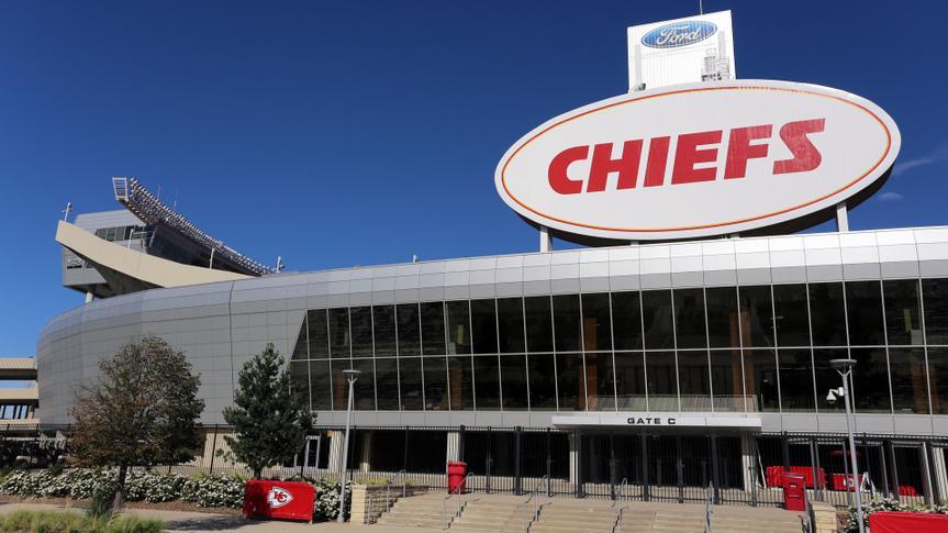 KANSAS CITY, MO, USA - SEPTEMBER 30: The exterior of Arrowhead Stadium in Kansas City, Missouri on September 30, 2017.