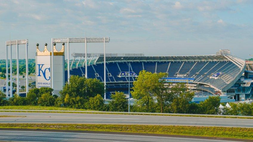 Kauffman Stadium baseball park