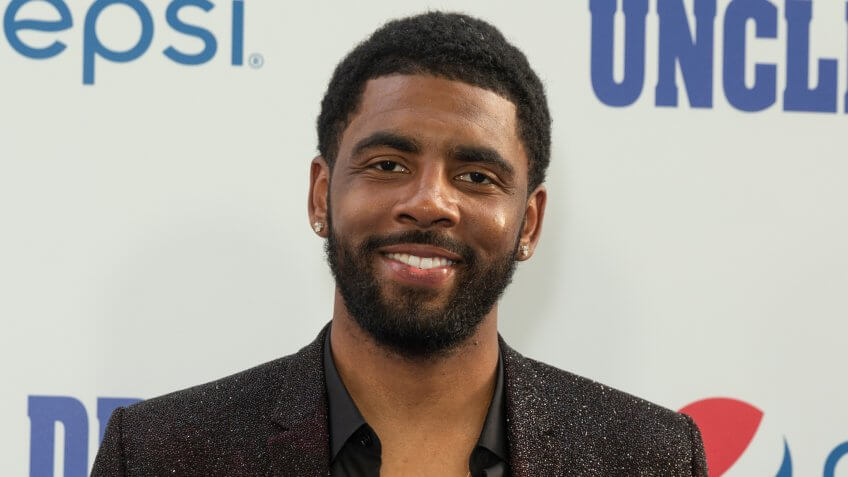 New York, NY - June 26, 2018: Kyrie Irving attends the Uncle Drew New York Premiere at Alice Tully Hall Lincoln Center.