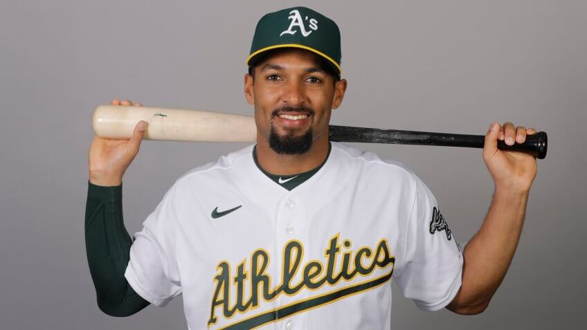 Mandatory Credit: Photo by Darron Cummings/AP/Shutterstock (10568005y)This is a 2020 photo of Marcus Semien of the Oakland Athletics baseball team.