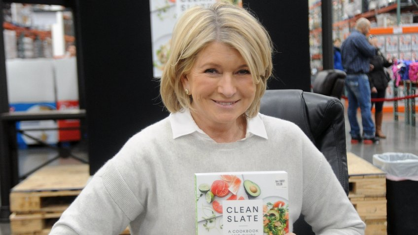 "BRIDGEWATER, NJ - FEBRUARY 26:  Martha Stewart attends her book signing for ""Clean Slate, A Cookbook and Guide"" at Costco Wholesale on February 26, 2015 in Bridgewater, New Jersey."