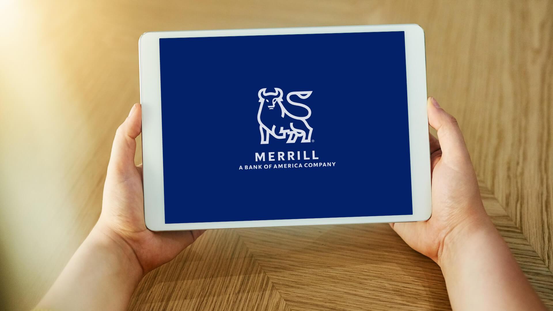 Merrill Edge mobile app on tablet