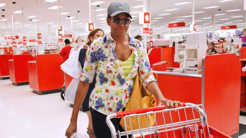 Michelle Obama Shopping in Target