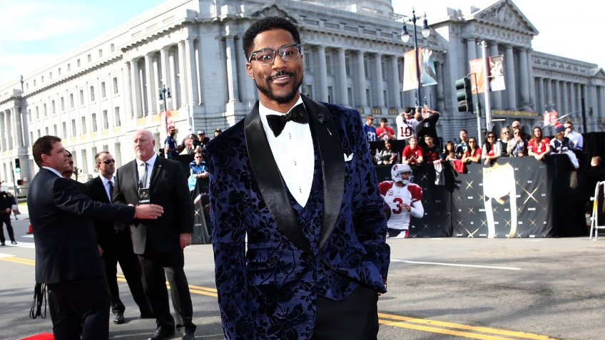Mandatory Credit: Photo by John Salangsang/Invision/AP/Shutterstock (9055023ag)Former NFL player Nate Burleson arrives at the 5th annual NFL Honors at the Bill Graham Civic Auditorium, in San Francisco5th Annual NFL Honors - Red Carpet, San Francisco, USA.