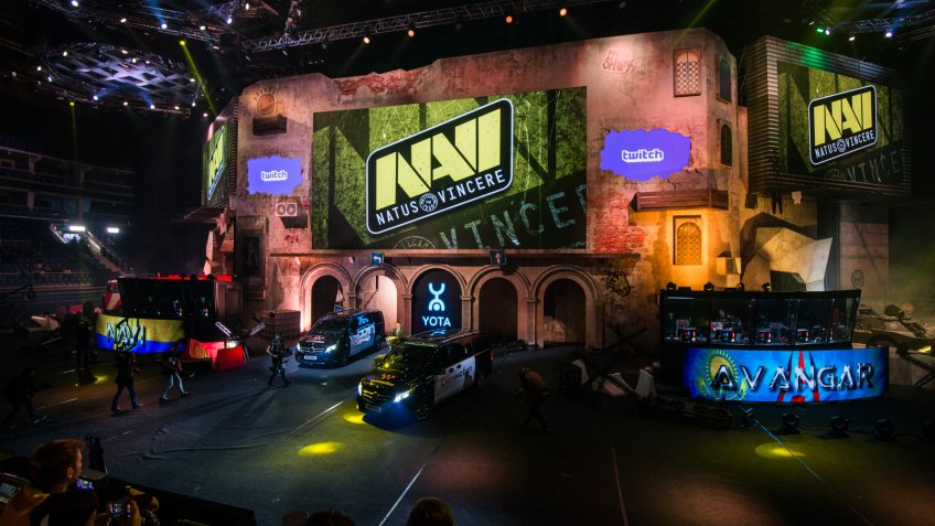 MOSCOW, RUSSIA - OCTOBER 2018: Counter Strike: Global Offensive esports event.