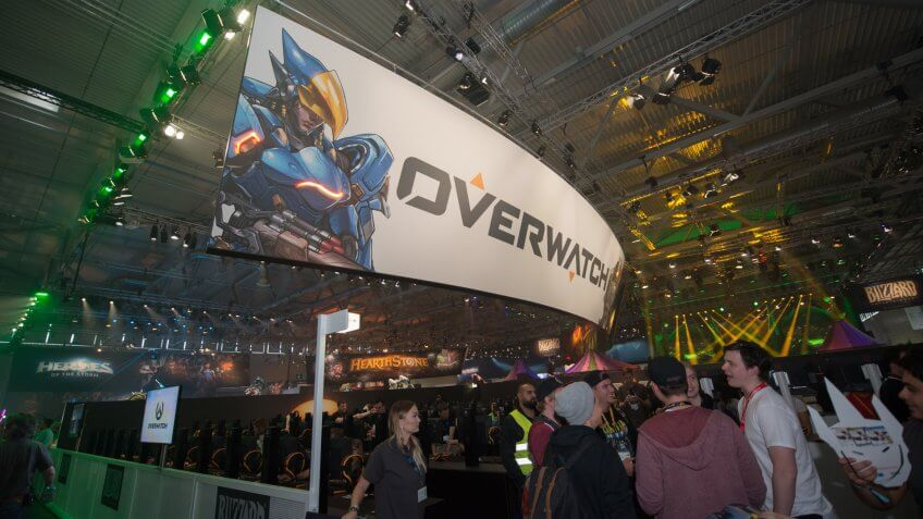 Cologne, Germany, August 22, 2017: Gamescom is a trade fair for video games held annually at the Koelnmesse in Cologne.