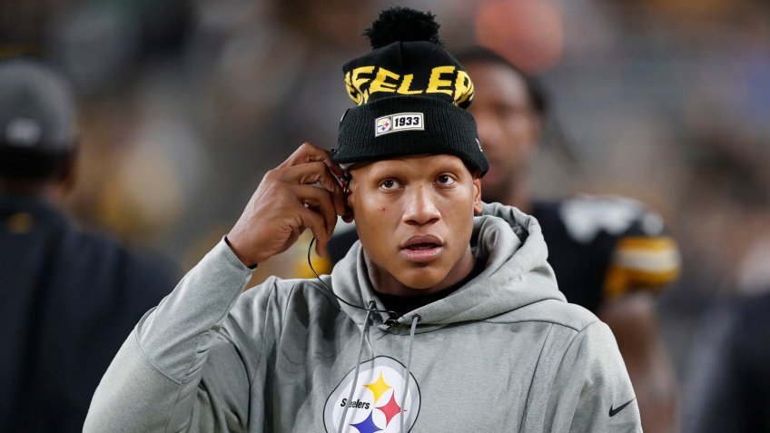 Mandatory Credit: Photo by Keith Srakocic/AP/Shutterstock (10471107fe)Pittsburgh Steelers linebacker Ryan Shazier (50) stands on the sidelines during the second half of an NFL football game against the Los Angeles Rams in PittsburghRams Steelers Football, Pittsburgh, USA - 10 Nov 2019.