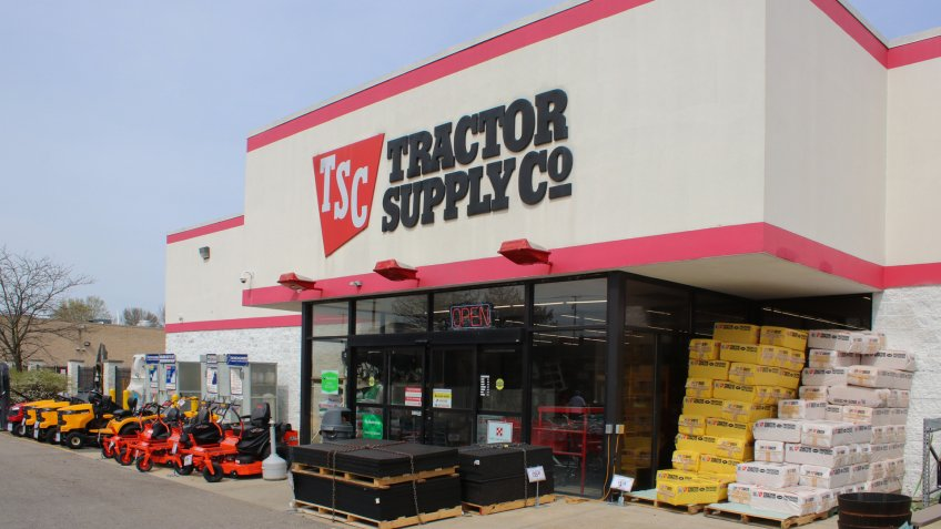 Pickerington,OH/USA April 11,2019 Tractor Supply Co is a hardware and tool supply retailer.