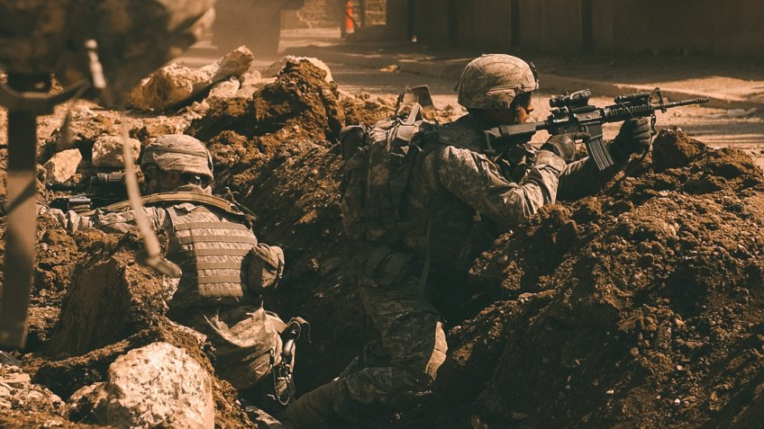 US Army soldiers in Baghdad Iraq War 2007