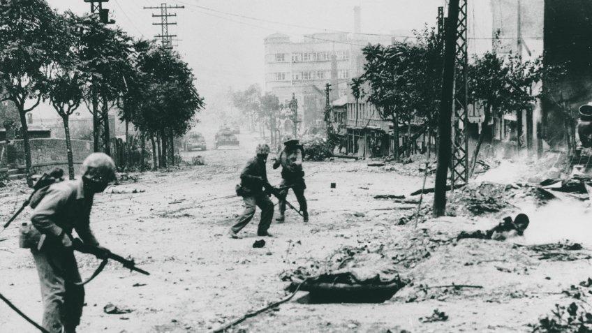 US Marines in Seoul Korean War 1950