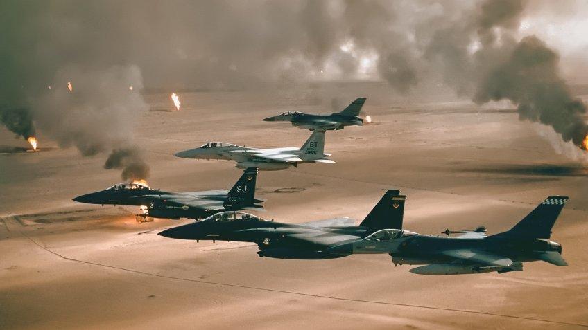 USAF Fighter jets in Kuwait Persian Gulf War