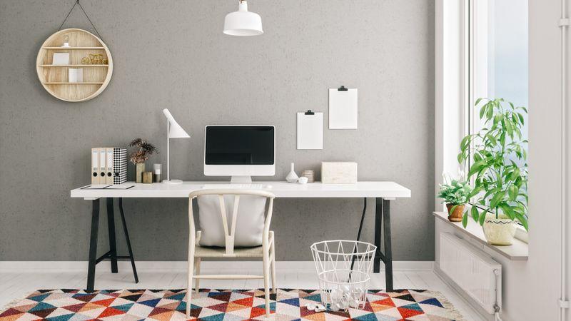 Scandinavian style working space.