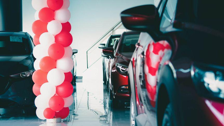 empty car dealership