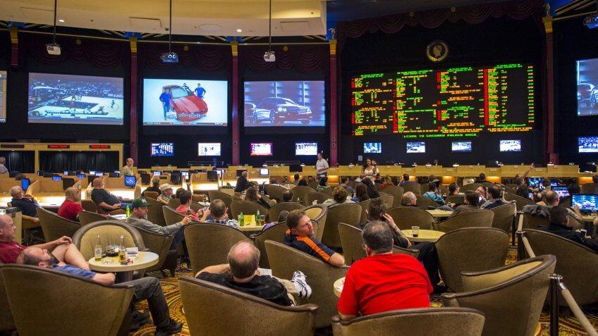 LAS VEGAS - FEB 03 :Sport betting at Caesar Palace on February 03, 2013 in Las Vegas.