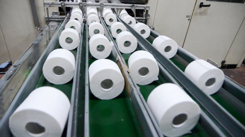 toilet paper production