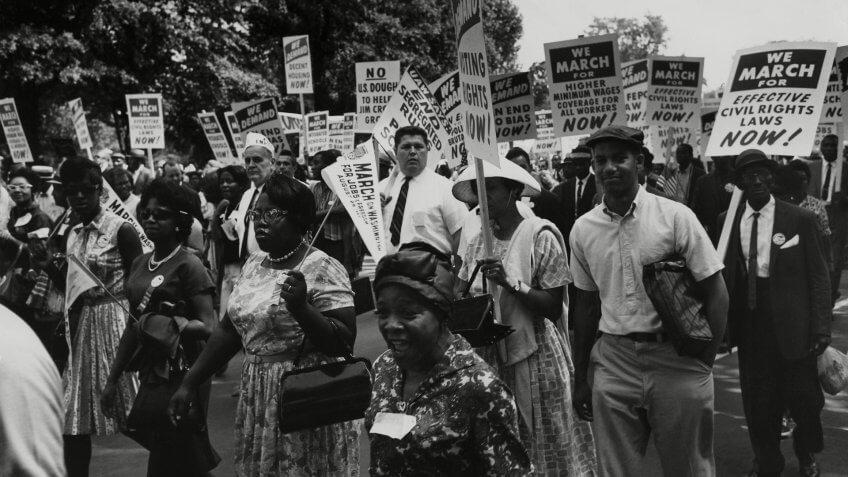 Mandatory Credit: Photo by Everett/Shutterstock (10289258a)1963 March on Washington.
