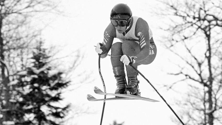 American Olympic downhill skier Bill Johnson, of Van Nuys, Calif.