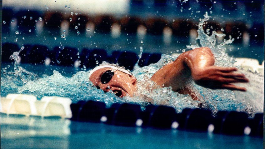 Swimmer Michelle Smith During Her Gold Medal Winning Race at the Olympic Games Atlanta 1996.