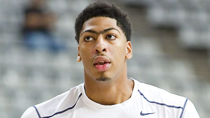 BARCELONA, SPAIN - SEPTEMBER 6: Anthony Davis of USA Team at FIBA World Cup basketball match between USA and Mexico, final score 86-63, on September 6, 2014, in Barcelona, Spain.