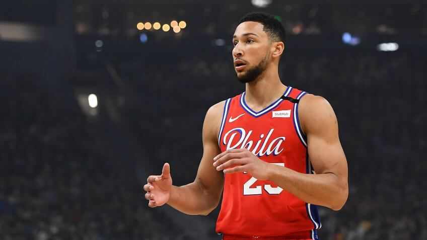 MILWAUKEE, WISCONSIN - FEBRUARY 22:  Ben Simmons #25 of the Philadelphia 76ers waits for a pass during the first half of a game against the Milwaukee Bucks at Fiserv Forum on February 22, 2020 in Milwaukee, Wisconsin.