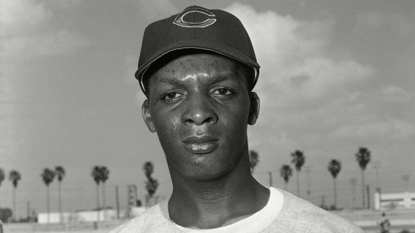 Mandatory Credit: Photo by Anonymous/AP/Shutterstock (6625182a)Curtis Flood, Cincinnati Redlegs outfielder shown in Tampa, Florida in March 1956Curtis Flood, Tampa, USA.