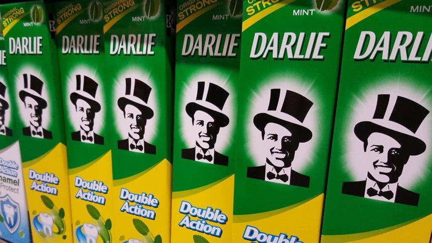 Kuala Lumpur, Malaysia - July 15 2018: Darlie is a toothpaste brand of Hawley & Hazel Chemical Company.