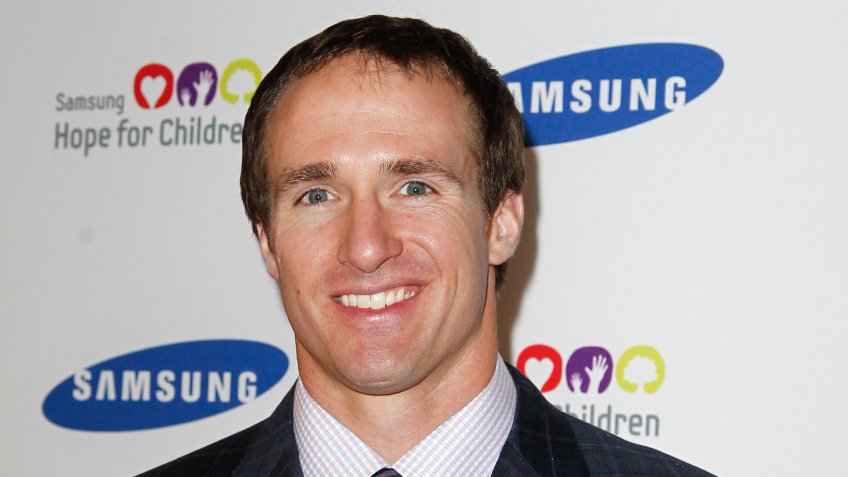 NEW YORK-JUNE 4: New Orleans Saints quarterback Drew Brees attends Samsung's Annual Hope for Children gala at the American Museum of Natural History on June 4, 2012 in New York City.