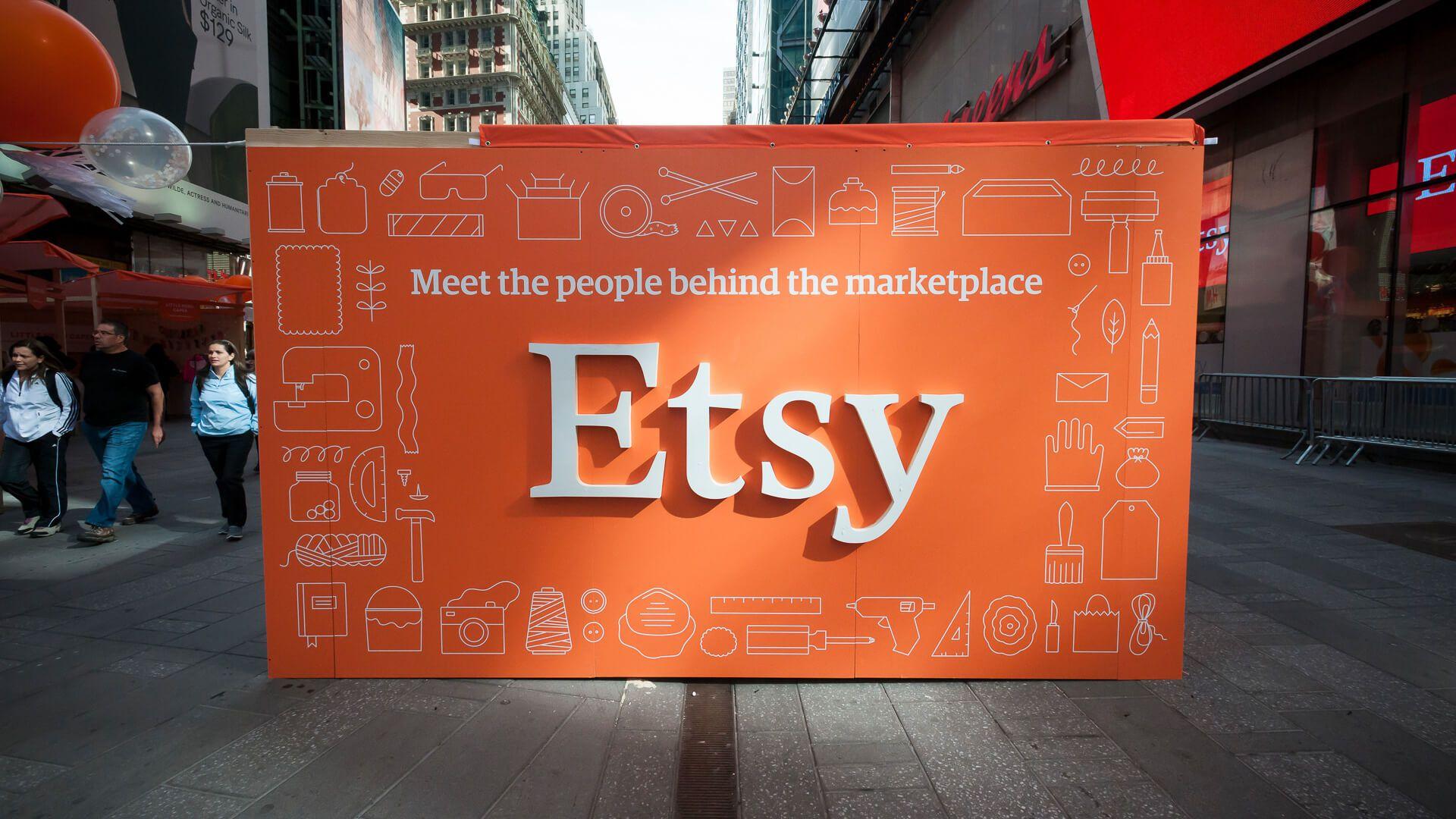 Etsy marketplace sign
