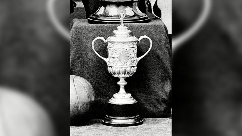 Mandatory Credit: Photo by Colorsport/Shutterstock (3052952a)The Original FA Cup stolen and never found 1897 Great BritainSport.