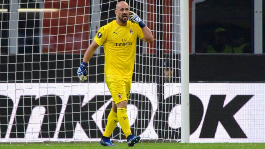 MILAN - OCT 25, 2018: Jose Pepe Reina 25.