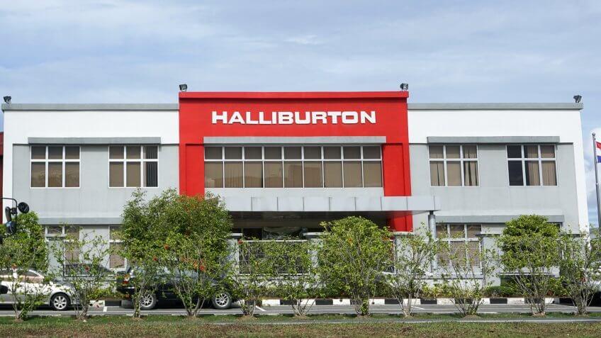 Labuan,Malaysia-Apr 5,2017:Halliburton international oil & gas company office in Labuan,Malaysia.
