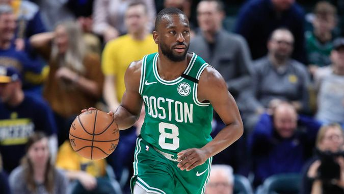 INDIANAPOLIS, INDIANA - MARCH 10: Kemba Walker #8 of the Boston Celtics dribbles the ball against the Indiana Pacers at Bankers Life Fieldhouse on March 10, 2020 in Indianapolis, Indiana.