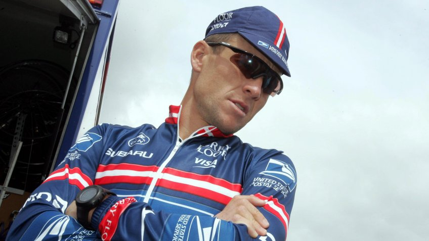 Mandatory Credit: Photo by Bernd Thissen/EPA/Shutterstock (8168393d)American Team Us Postal Cyclist and Five Time Tour De France Winner Lance Armstrong Looks on Prior a Training Session Thursday 01 July 2004 in Liege Belgium the Tour De France the World's Biggest Cycling Event Will Start with the Prologue in Liege on Saturday Belgium LiegeBelgium Cycling Tour Us Postal Training - Jul 2004.