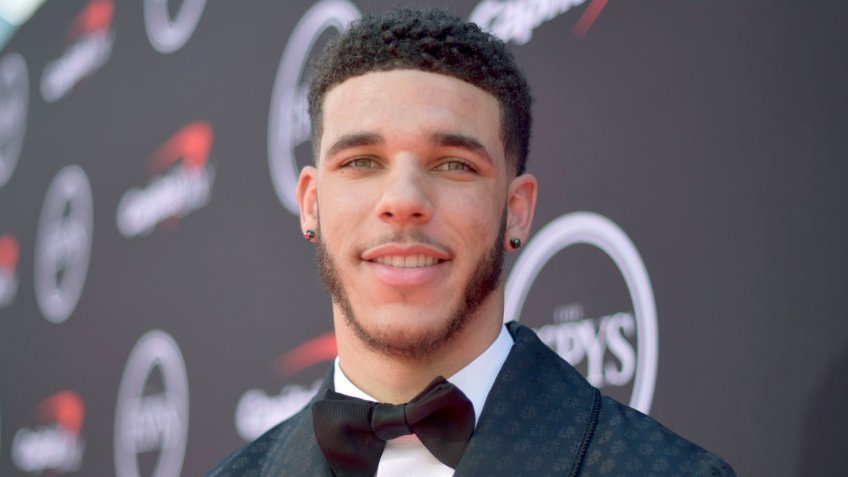 NBA player Lonzo Ball, of the New Orleans Pelicans, arrives at the ESPY Awards, at the Microsoft Theater in Los Angeles2019 ESPY Awards - Red Carpet, Los Angeles, USA - 10 Jul 2019.