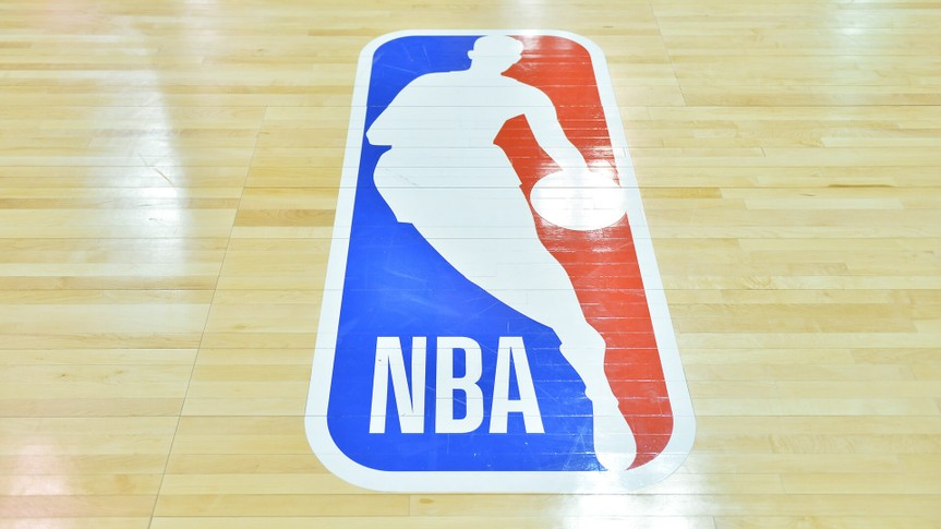 LAS VEGAS, NV - JULY 09:  A general view of the court shows the NBA logo during a game between the Sacramento Kings and the Memphis Grizzlies during the 2017 NBA Summer League at the Cox Pavilion on July 9, 2017 in Las Vegas, Nevada.