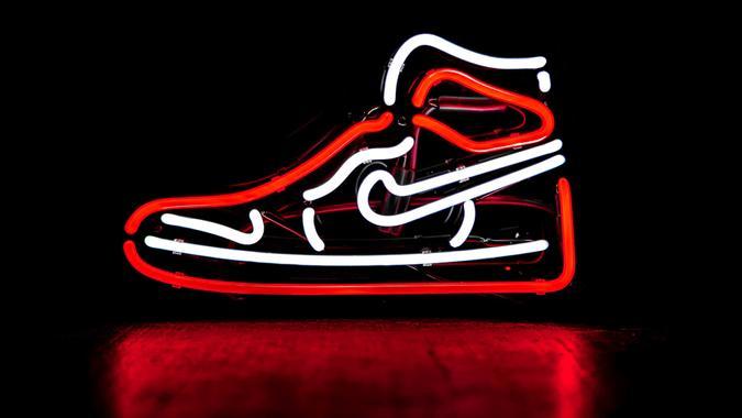 Nike Air Jordans neon retro sign