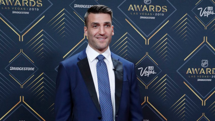 Patrice Bergeron of the Boston Bruins poses on the red carpet before the NHL Awards, in Las VegasNHL Awards Hockey, Las Vegas, USA - 19 Jun 2019.