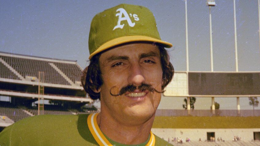 Mandatory Credit: Photo by Anonymous/AP/Shutterstock (6604931a)Rollie Fingers of the Oakland A's is seen, in 1976Oakland Fingers 1976, USA.