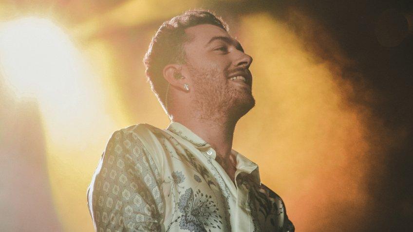 RIO DE JANEIRO, SETEMBER 26, 2015: Sam Smith during their show at Rock In Rio Festival.
