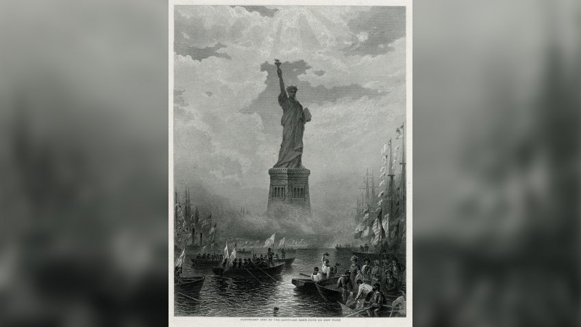 New York: the Statue of Liberty in New York Harbour 1883Historical Collection117.